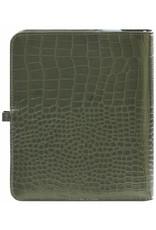 Kalpa A5 organizer gloss croco mosgroen