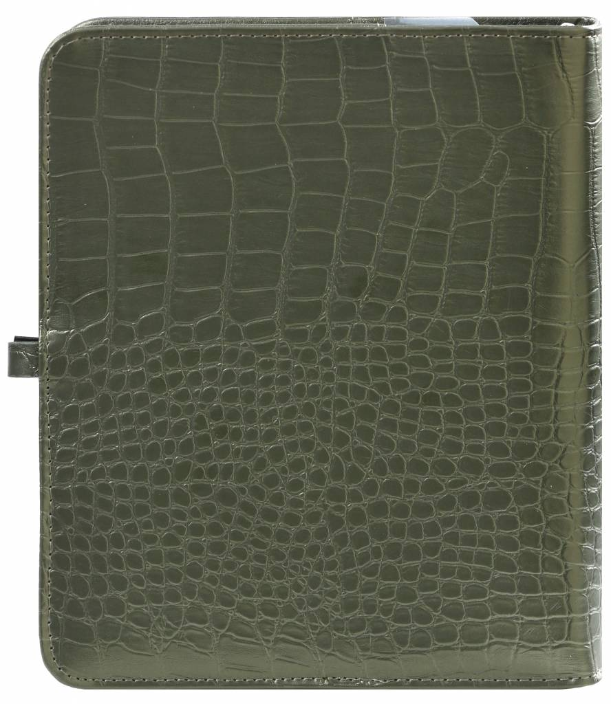 Kalpa 1011-66 Kalpa A5 Organiser Faux Leather With Paper Fillers Weekly Planner, Journal, Diary - Moss Green