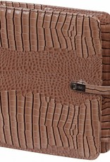 Kalpa A5 organiser Gloss Croco Taupe