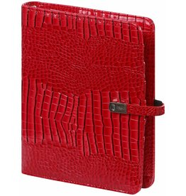 Kalpa 1011-62 A5 organiser gloss croco red