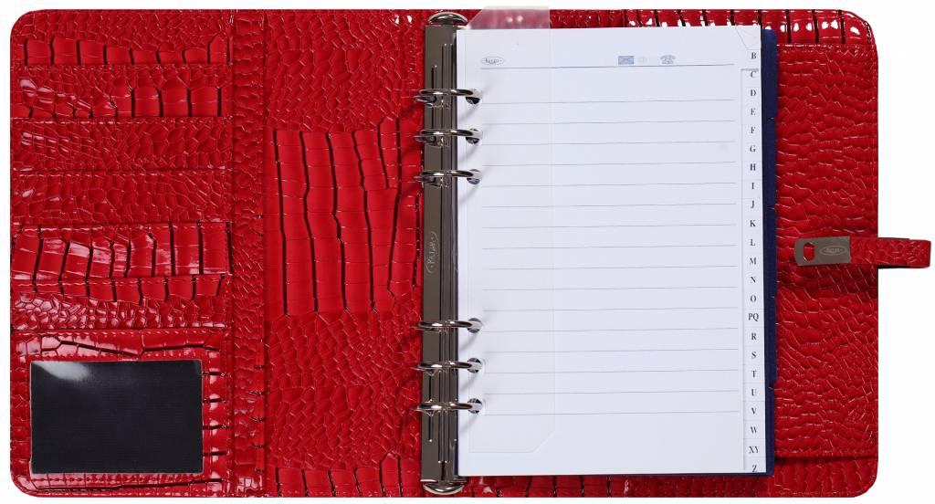 Kalpa A5 organiser Gloss Croco rood
