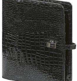 Kalpa 1011-61 A5 organiser Gloss Croco zwart