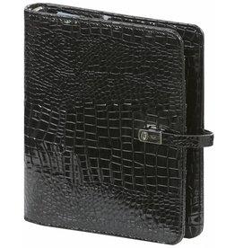 Kalpa 1011-61 A5 organiser gloss croco black