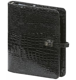 Kalpa 1011-61 A5 organizer Gloss Croco zwart