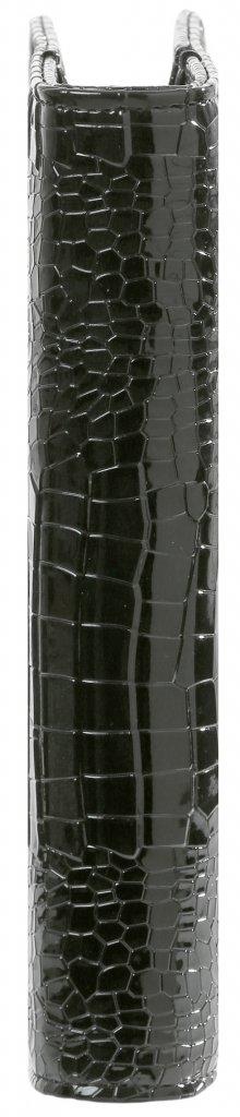 Kalpa A5 organiser Gloss Croco zwart