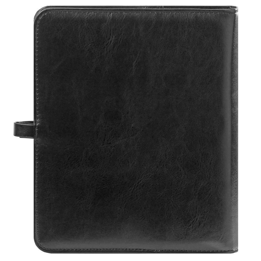 Kalpa 1011-60 Kalpa A5 Organiser Faux Leather With Paper Fillers Weekly Planner, Journal, Diary - Pullup Black