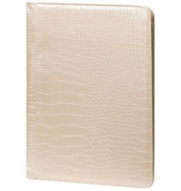 Kalpa 2400-65 Alpstein writing case with zip gloss croco pearly