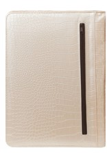 Kalpa Alpstein writing case with zip gloss croco pearly