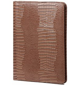 Kalpa 2400-63 Alpstein writing case with zip gloss croco taupe