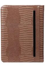 Kalpa Alpstein writing case with zip gloss croco taupe