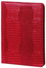 Kalpa Alpstein writing case with zip gloss croco red