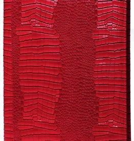 Kalpa 2400-62 Alpstein schrijfmap met rits Gloss Croco rood