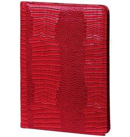 Kalpa 2400-62 Alpstein schrijfmap rits gloss - croco rood