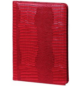 Kalpa 2400-62 Alpstein writing case with zip gloss croco red
