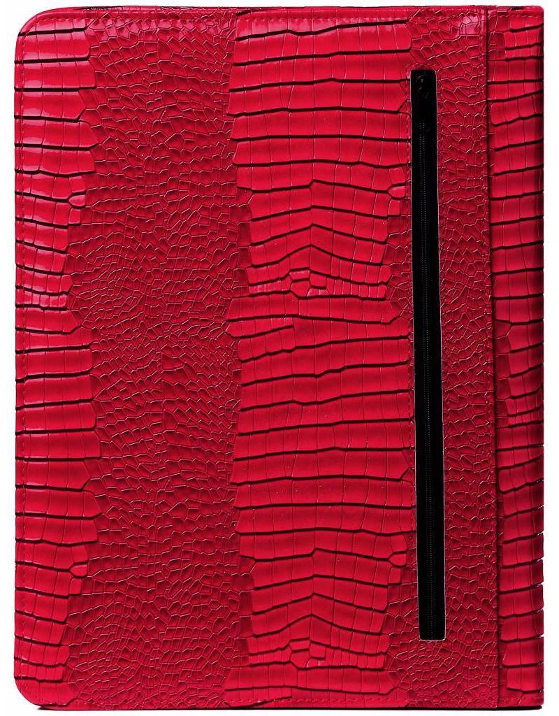 Kalpa Alpstein schrijfmap met rits gloss croco rood