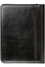 Kalpa Alpstein schrijfmap met rits pullup zwart