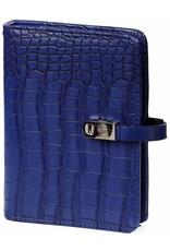 Kalpa Pocket organiser croco cobalt blue