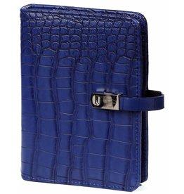 Kalpa 1311-67 Pocket organiser croco cobalt blue