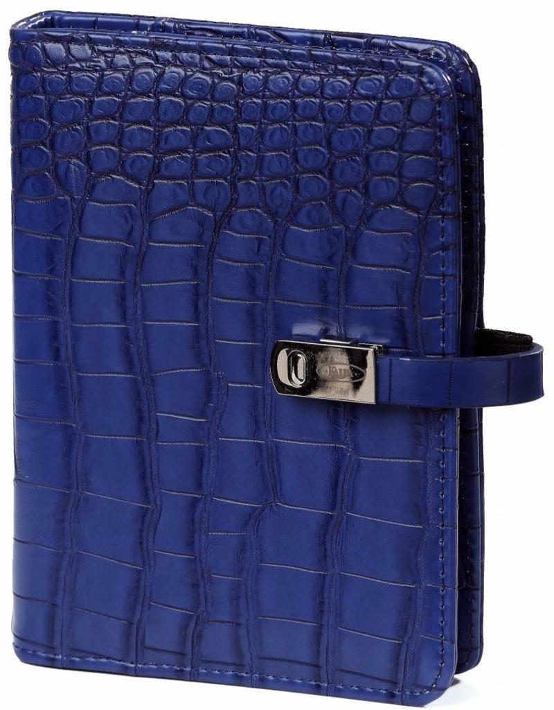 Kalpa Kalpa Pocket organizer croco cobaltic blue