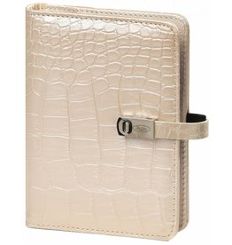 Kalpa 1311-65 Pocket (junior) organizer gloss croco parelmoer