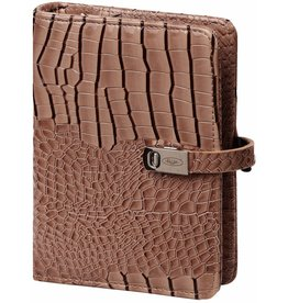 Kalpa 1311-63 Pocket (junior) organizer gloss croco taupe