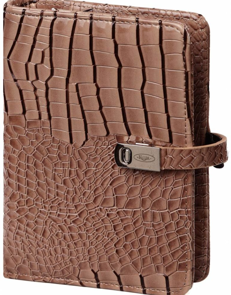 Kalpa Pocket (junior) organiser Gloss Croco Taupe