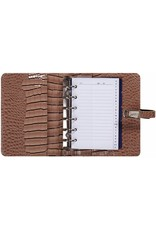 Kalpa 1311-63 Kalpa Junior Pocket Organiser with Paper Fillers, Weekly Planner, Journal, Diary - Gloss Crock Taupe