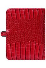 Kalpa Pocket organiser gloss croco red