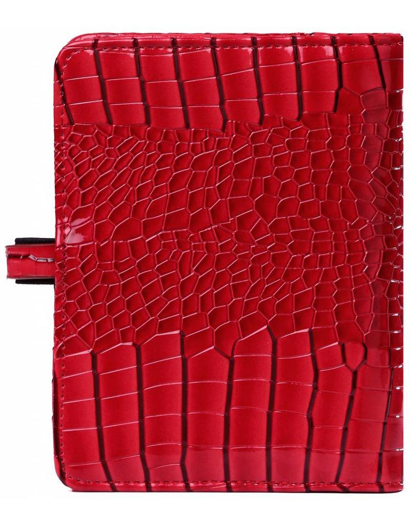 Kalpa Pocket (junior) organizer gloss croco rood