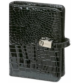 Kalpa 1311-61 Pocket (junior) organizer gloss croco zwart