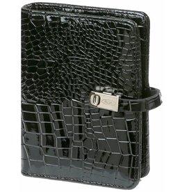 Kalpa 1311-61 Pocket organiser gloss croco black