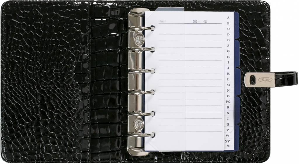 Kalpa 1311-61 Kalpa Junior Pocket Organiser with Paper Fillers, Weekly Planner, Journal, Diary - Gloss Crock Black