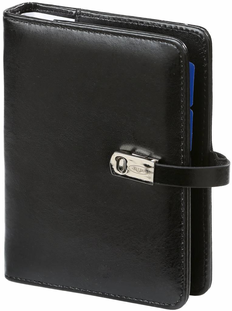 Kalpa 1311-60 Kalpa Junior Pocket Organiser With Paper Fillers, Weekly Planner, Journal, Diary - Pullup Black