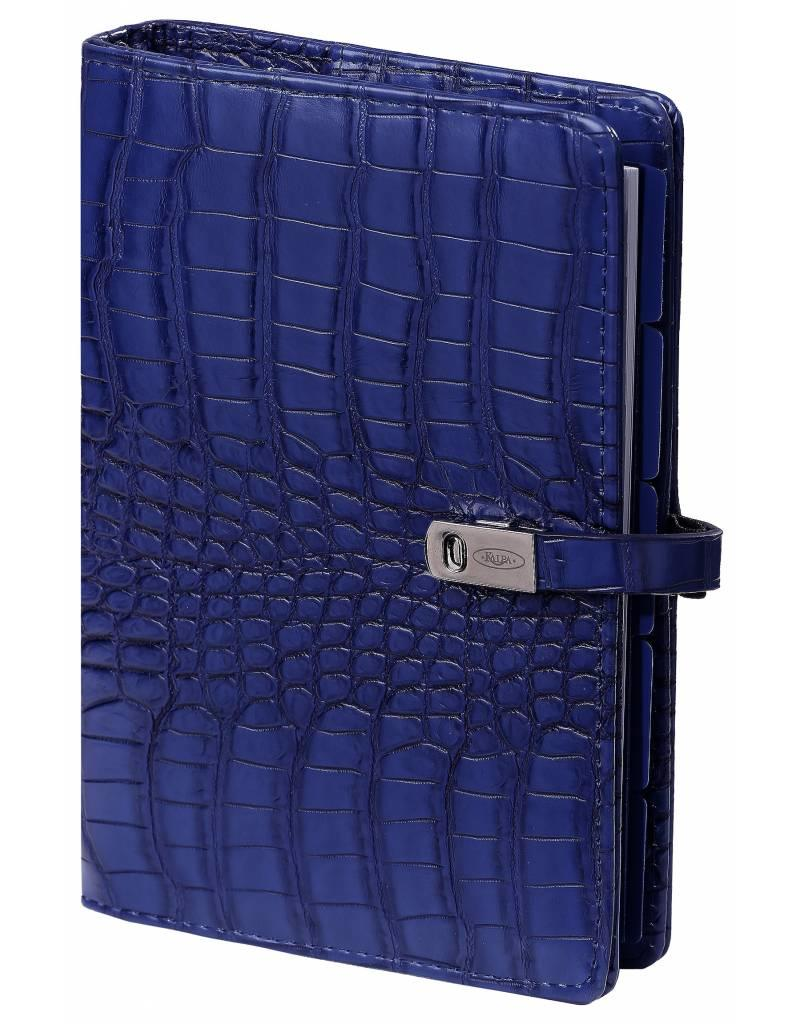 Kalpa Personal (Standaard) organizer cobalt croco blauw