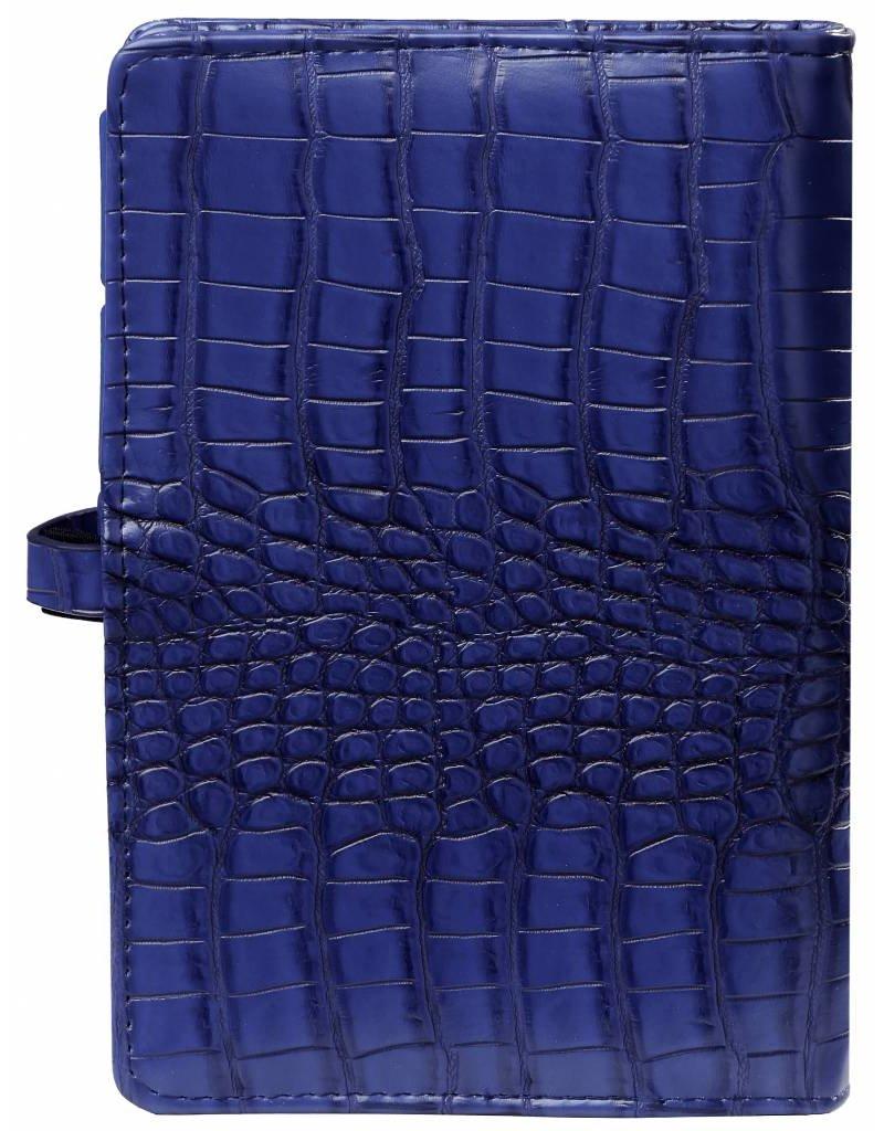 Kalpa Personal organiser croco cobalt blue
