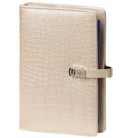 Kalpa 1111-65 Kalpa Personal Organisers Leather with Paper Filler Weekly Planner, Journal, Diary - Croco Pearl