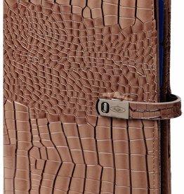 Kalpa 1111-63 Personal (standaard) organiser gloss croco taupe