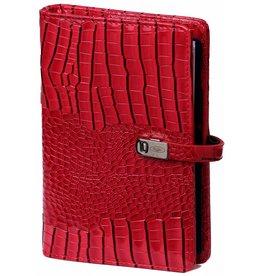 Kalpa 1111-62 Personal (standaard) organiser gloss croco rood
