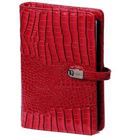 Kalpa 1111-62 Personal (Standaard) organizer gloss croco rood