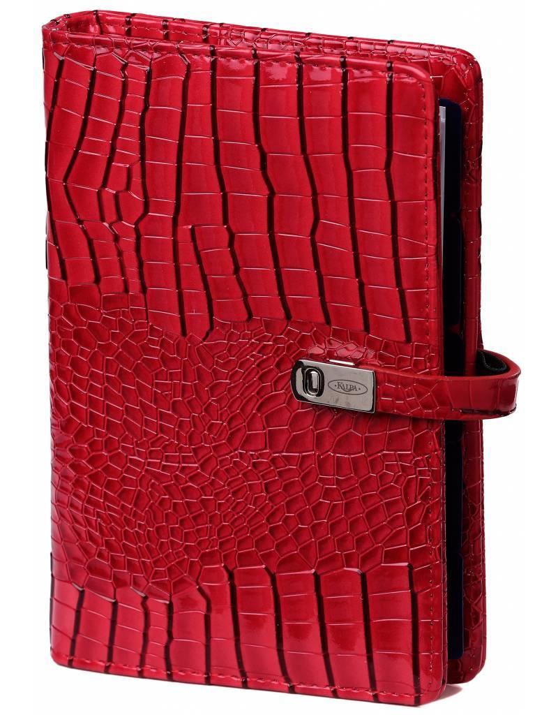 Kalpa Personal (Standaard) organizer gloss croco rood