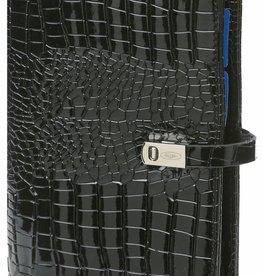 Kalpa 1111-61 Personal (standaard) organiser gloss croco zwart