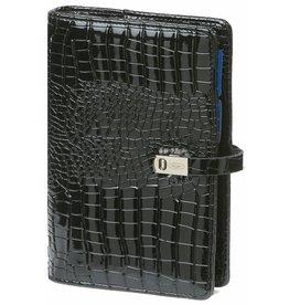 Kalpa 1111-61 Personal (Standaard) organizer gloss croco zwart