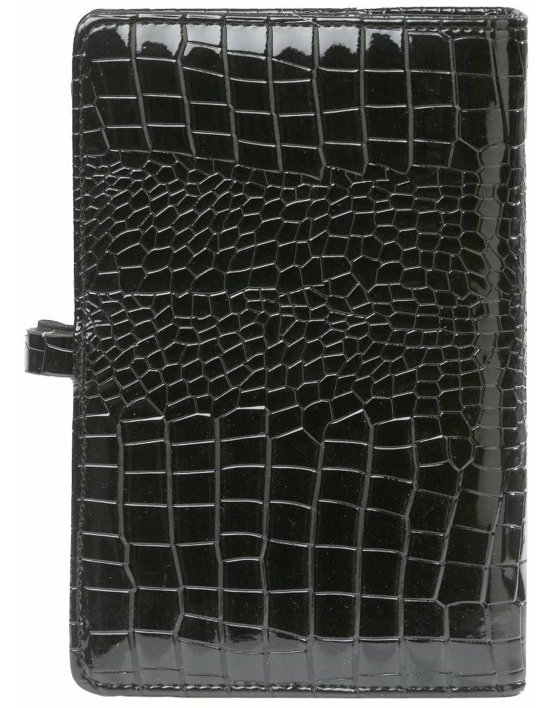 Kalpa Personal (standaard) organiser gloss croco zwart