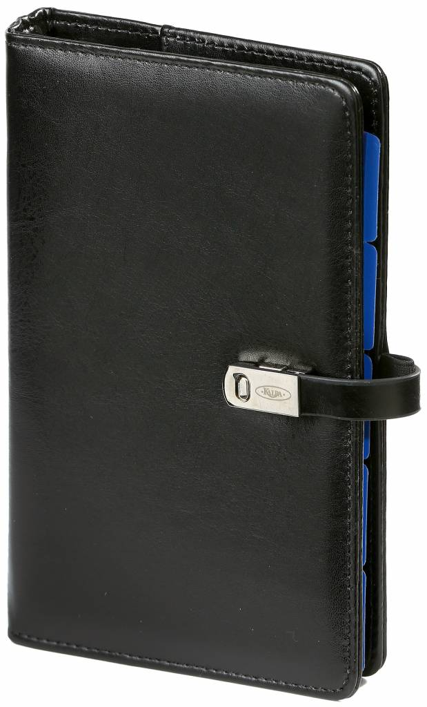 Kalpa 1111-60 Kalpa Personal Organisers Leather with Paper Filler Weekly Planner, Journal, Diary - Pullup Black