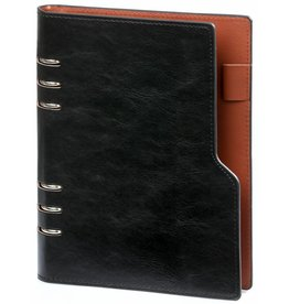 Kalpa 1116-60 Kalpa A5 Compact Organiser With Paper Fillers Weekly Planner, Journal, Diary 23 x 18 cm - Pullup Black