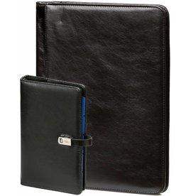 Kalpa 1111-240060 - A4 schrijfmap en personal (standaard) organiser pullup zwart