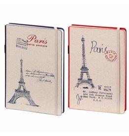 Dreamnotes D8019-2P 2 Stuks A5 notitieboek Parijs 21 x 15 cm. blauw en rood 254 p