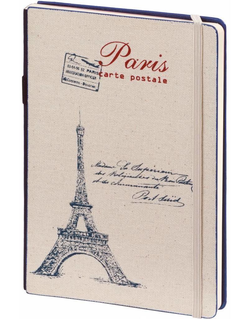 Dreamnotes D8019-2P 2 Stuks A5 notitieboek Paris 21 x 15 cm. blauw enrood 254 p