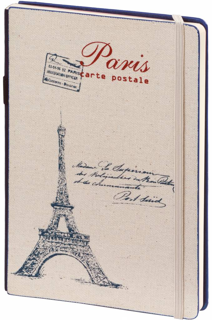 Dreamnotes D8019-2P 2 stuks A5 Notebook Paris 21 x 15 cm Blue and Red 254 p