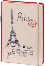 Dreamnotes 2 stuks A5 notitieboek Paris 21 x 15 cm. blauw enrood 254 p